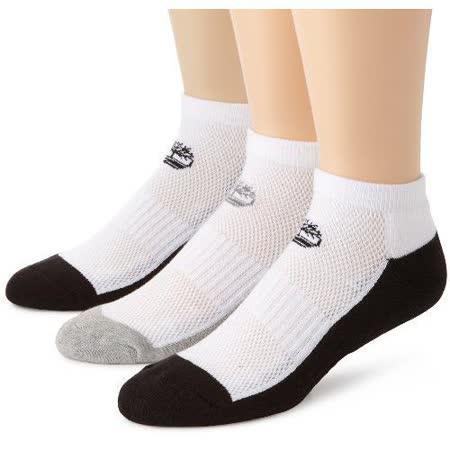Timberland 2015男時尚騎車墊層白黑雙色襪子3入組【預購】
