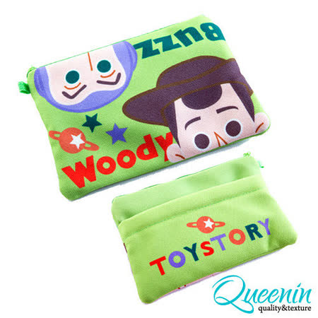 DF Queenin皮夾 - 迪士尼系列玩具總動員帆布筆袋