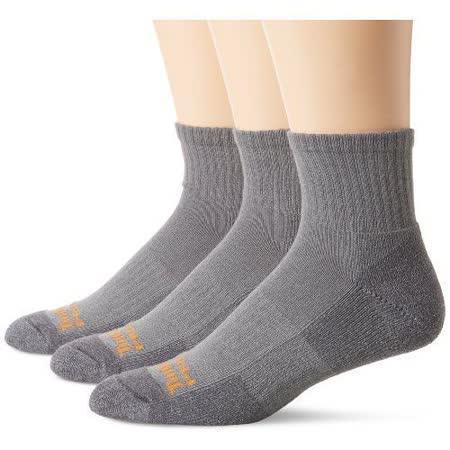 Timberland 2015男時尚墊層低切舒適雙灰色襪子3入組【預購】