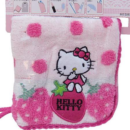 【波克貓哈日網】Hello kitty 凱蒂貓◇毛巾布收納包◇《隱私/收納/吸水》