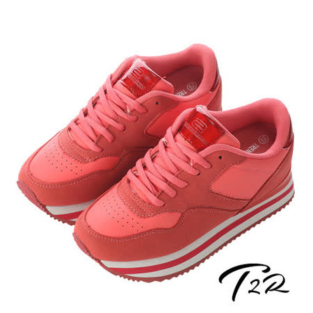【韓國T2R】休閒時尚極簡氣墊內增高鞋7CM 紅(5600-0164)