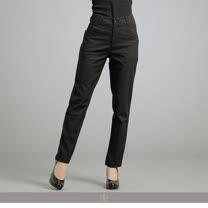 玄太-百搭素面棉質透氣直筒長褲(黑)