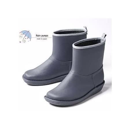 【Charming】日本製 時尚造型【個性雪靴雨鞋】-灰色-712