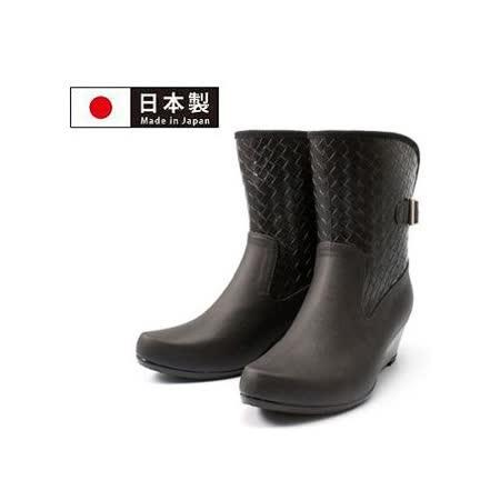 【好物分享】gohappy快樂購【Charming】日本製 時尚造型【扣環高跟雨鞋】-黑色-820效果sogo 復興 館