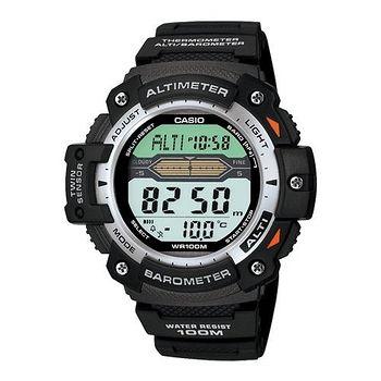 CASIO 巔峰戰士雙感測量運動錶 (膠帶款)