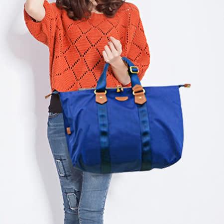 DF Queenin日韓 - 日本熱銷款輕量尼龍2用式手提包-寶藍