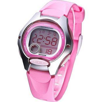 CASIO 電子美人彩色數字運動 膠帶錶