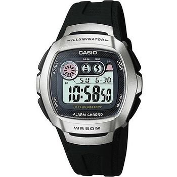 CASIO 兩地時間商務錶 (銀黑)