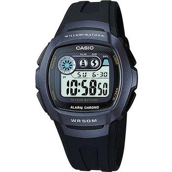 CASIO 兩地時間商務錶 (藍黑)