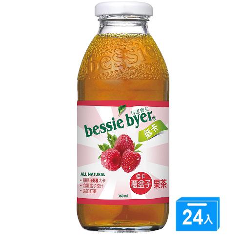 貝思寶兒 低卡覆盆子果茶360ml~24