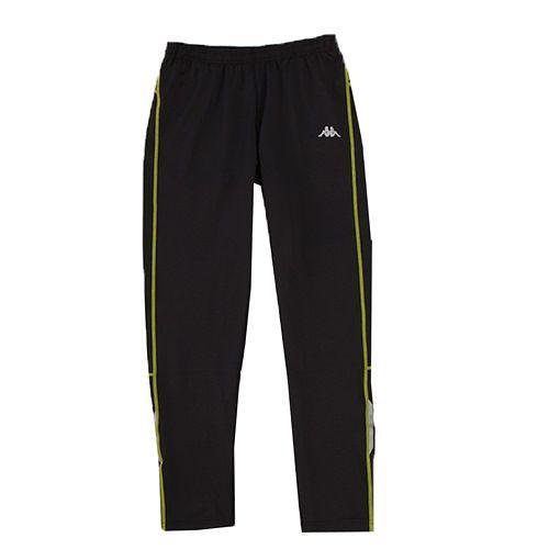 KAPPA義大利 型男ALL DRY吸濕排汗針織慢跑緊身長褲 合身尺寸 ~黑