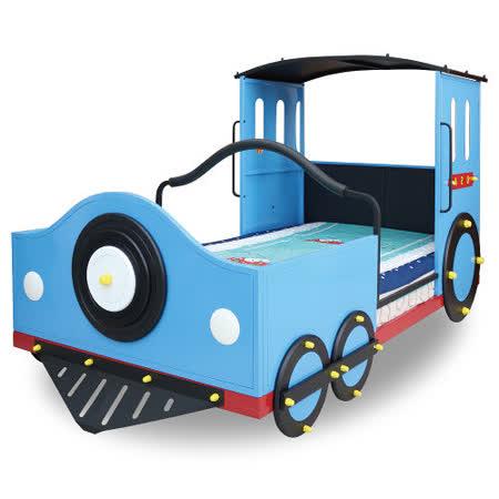 【Kids castle兒童城堡】 湯姆士火車兒童造型單人床架(含床墊)