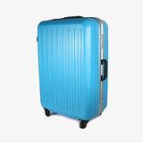 【CROWN皇冠】27吋 限量優惠 繽紛旅行 霧面硬殼豪華款行李箱 土耳其藍 C-F2857-1-27-E53