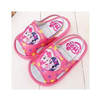 童鞋城堡 Pony彩虹小馬 嗶嗶BB學步後帶拖鞋 MP0188-桃
