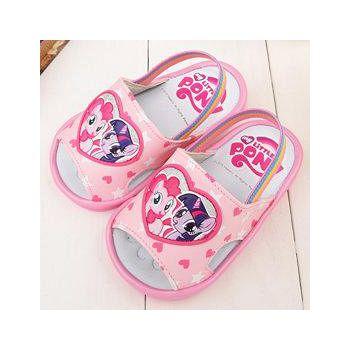 童鞋城堡 Pony彩虹小馬 嗶嗶BB學步後帶拖鞋 MP0188-粉