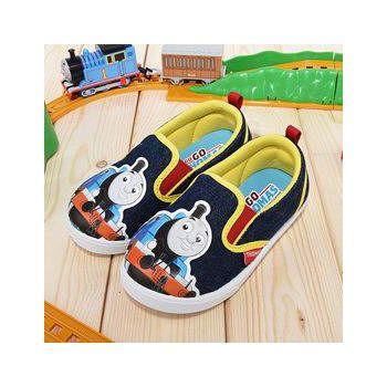 童鞋城堡 湯瑪士 中童 幼稚園室內休閒鞋 H86051-藍