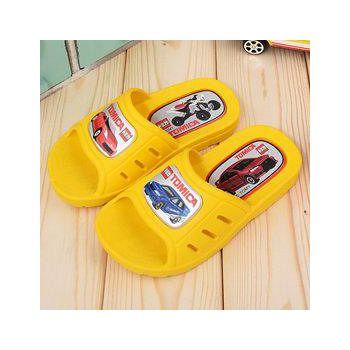 童鞋城堡 Tomica多美汽車 小童 一體成型男童拖鞋 TM0801-黃