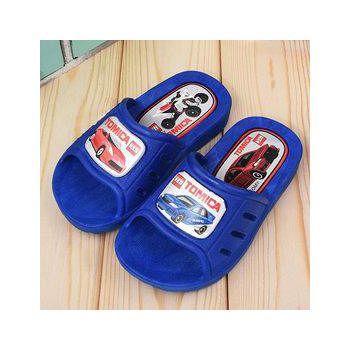 童鞋城堡 Tomica多美汽車 小童 一體成型男童拖鞋 TM0801-藍