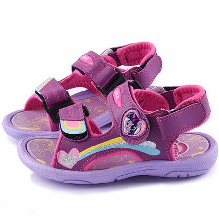 童鞋城堡-Pony彩虹小馬 兩穿式女童涼鞋MP3520-紫