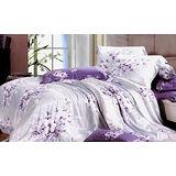 【法式寢飾花季】時尚典藏-加大100%天絲纖維鋪棉兩用被床包組(愛如潮水6*6.2尺)