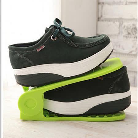(任選)2入可調式收納鞋架(不挑色)