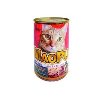 MAOPU  貓撲鮪魚+雞肉餐罐400g