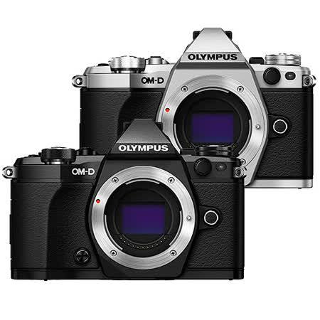 OLYMPUS OM-D E-M5 Mark II 單機身組(公司貨)-加送64G卡+原廠電池+大吹球清潔組+拭鏡筆+快門線+相機包+單眼專用皮質手腕帶