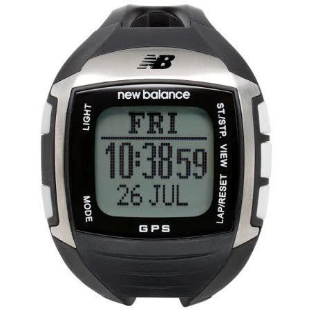 New Balance 900系列 多功能GPS充電心跳電子錶-銀/48x45mm