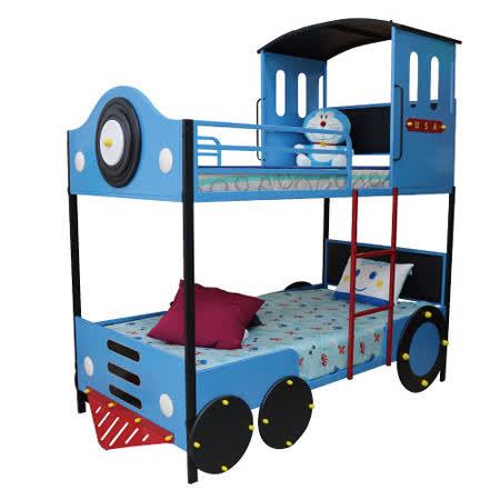 【Kids castle兒童城堡】 湯姆士火車兒童造型雙層床架(含床墊)