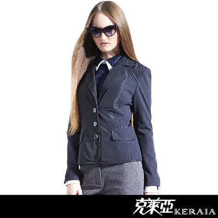 克萊亞KERAIA 口袋短版舖棉外套