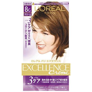 巴黎萊雅優媚霜三重護髮雙管染髮霜-8G炫亮金棕