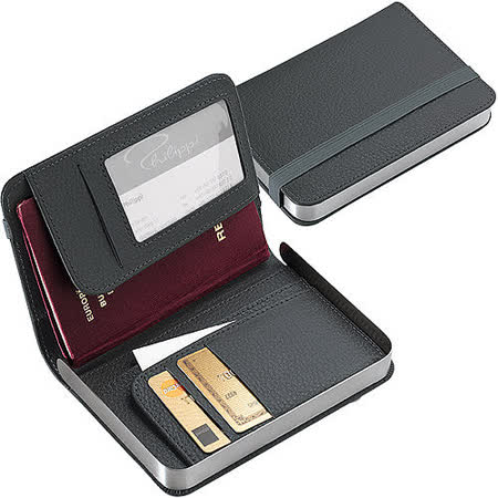 《PHILIPPI》書扉證件護照夾(灰)