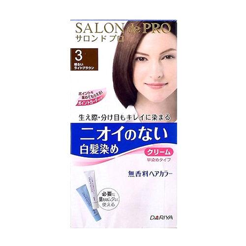 日本DARIYA沙龍級染髮劑 無味型白髮染【明褐色】40g+40g
