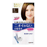 日本DARIYA沙龍級染髮劑 無味型白髮染【自然褐色】40g+40g
