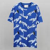 【摩達客】韓國進口EXO合作設計品牌DBSW Hand Drops手掉了藍色 純棉短T短袖T恤時尚潮T