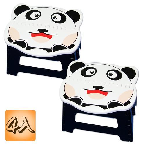 收納樂 【Q版】行動止滑摺合椅- 元氣熊 (四入/ 組)