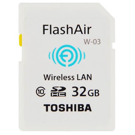 TOSHIBA 32GB FlashAir SDHC Class10 無線記憶卡-平行輸入