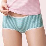 【華歌爾】PH5.5酸鹼平衡M-LL條紋中低腰平口褲(薄荷綠)