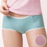【華歌爾】PH5.5酸鹼平衡M-LL條紋中低腰平口褲(粉桔紅)