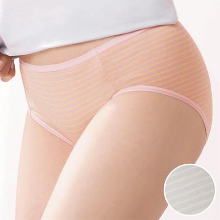 【華歌爾】PH5.5酸鹼平衡M-LL條紋中低腰三角褲(迷霧灰)