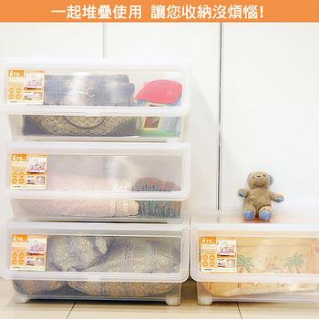 【百貨通】直取式收納箱 58L(大) 4入裝 掀蓋式整理箱