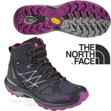 【美國 The North Face】ULTRA FASTPACK 女款Gore-Tex防水透氣中筒輕量登山鞋.登山鞋.越野鞋.健行鞋_CDM7 暗影灰/拜占庭紫