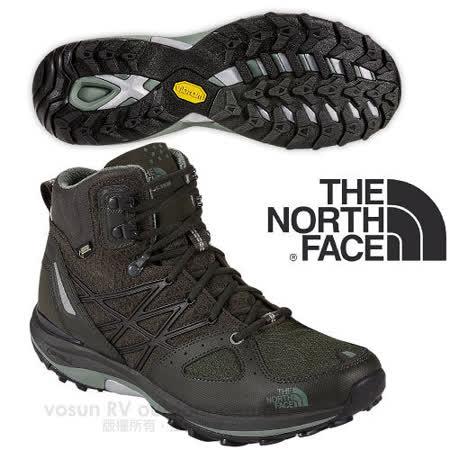 【美國 The North Face】ULTRA FASTPACK 男款Gore-Tex防水透氣中筒輕量登山鞋.登山鞋.越野鞋.健行鞋_CDM0 黑墨綠/月冠綠