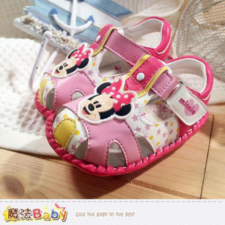 魔法Baby~專櫃款迪士尼米妮外出鞋 sh5755