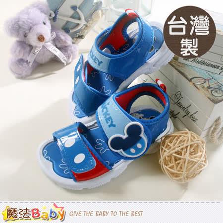 魔法Baby~男童鞋 台灣製專櫃款迪士尼米奇涼鞋 sh5793