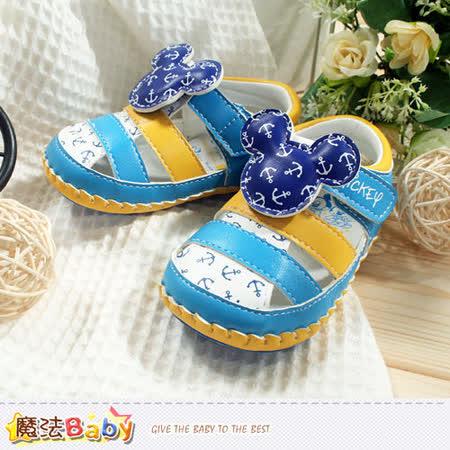 魔法Baby~專櫃款迪士尼米奇寶寶外出鞋 sh5816