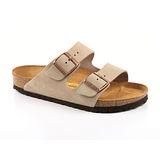 勃肯BIRKENSTOCK 051461。ARIZONA亞利桑那 經典二條拖鞋(暖灰)