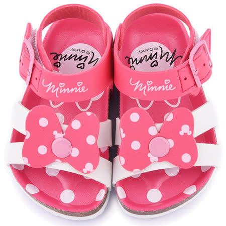 童鞋城堡-Disney迪士尼 中小童 米妮軟木風格涼鞋453810-粉