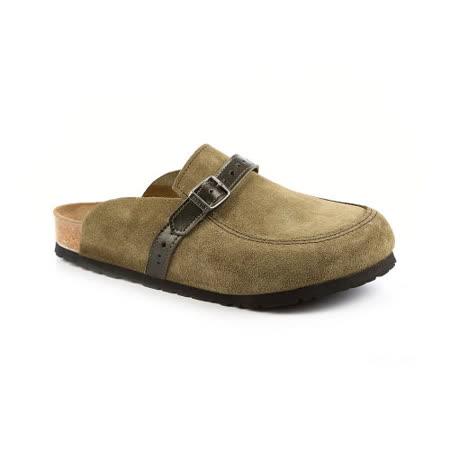 勃肯BIRKENSTOCK 135041。EATON伊頓 包頭拖鞋(橄欖)