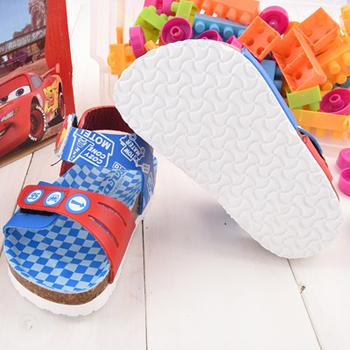 童鞋城堡-Cars閃電麥坤 中小童 可調式軟木風格涼鞋553809-藍